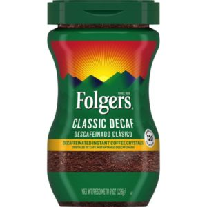 Folgers Classic Decaffeinated Instant Coffee
