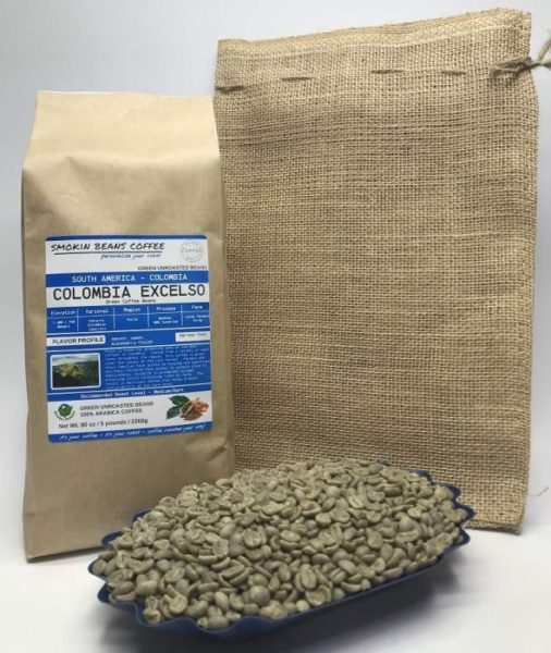Colombia Excelso – Unroasted Arabica Green Coffee Beans