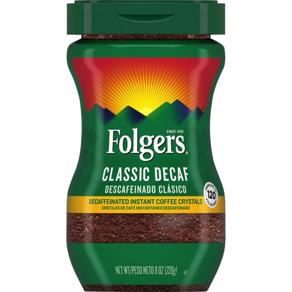 Folgers Classic Decaf Decaffeinated Instant Coffee