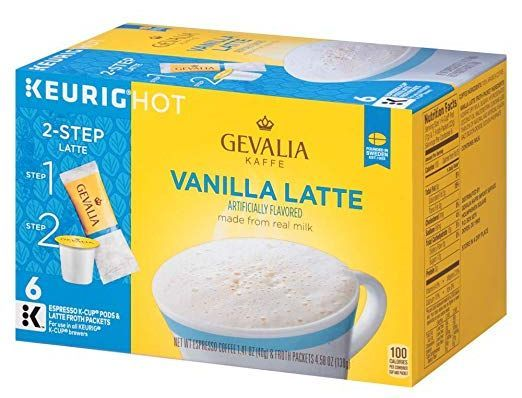 Gevalia Cappuccino Espresso Keurig K-Cup Coffee Pods and Froth Packets