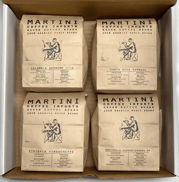 Martini Coffee Roasters Unroasted Green Coffee Bean Sampler Pack