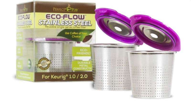 Perfect Pod ECO-Flow Stainless Steel Reusable K-Cup