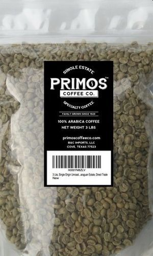 Primos Coffee Co Single Origin Unroasted Green Coffee Beans
