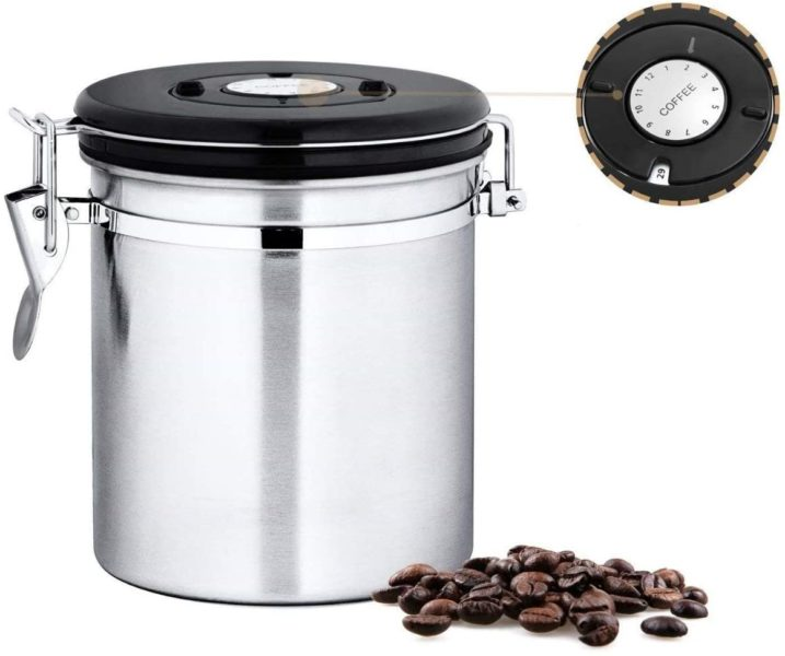Chef's Star Stainless Steel Airtight Canister