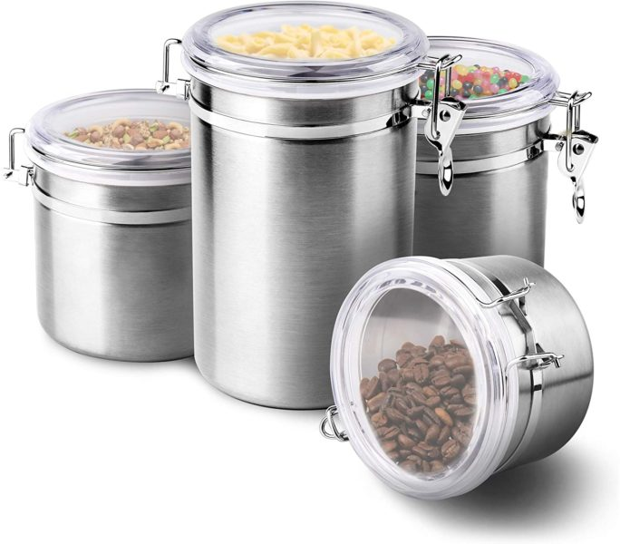 Enloy 4-Piece Airtight Canister Set