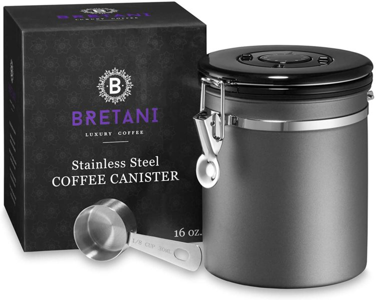 Bretani Stainless Steel Coffee Canister