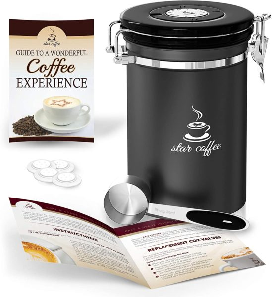 Star Coffee Airtight Coffee Storage