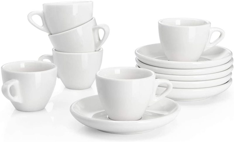 Sweese Espresso Cups with Saucers