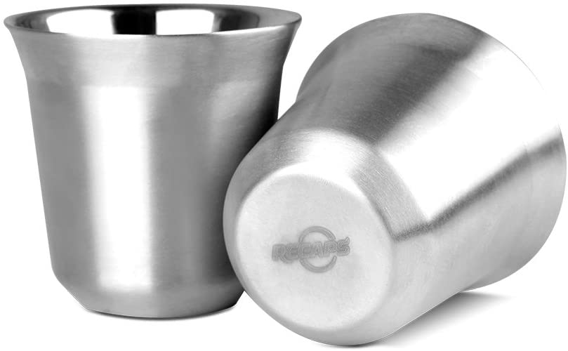 Recaps Stainless Steel Espresso Cups Set