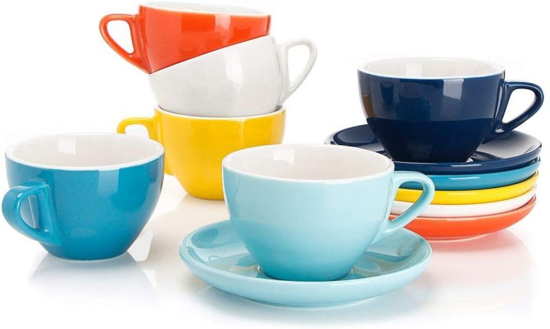 Sweese 403.002 Cappuccino Cups with Saucers