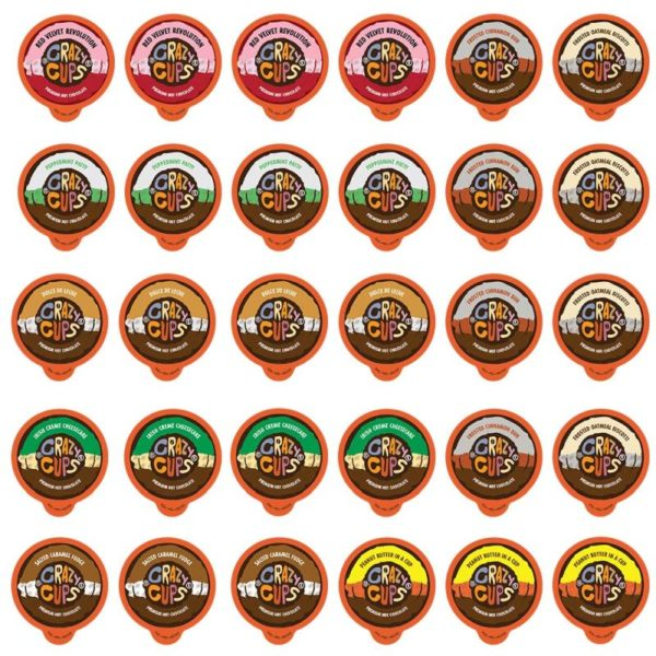 Crazy Cups Premium Hot Chocolate Single Serve Cups for Keurig K Cup Brewers