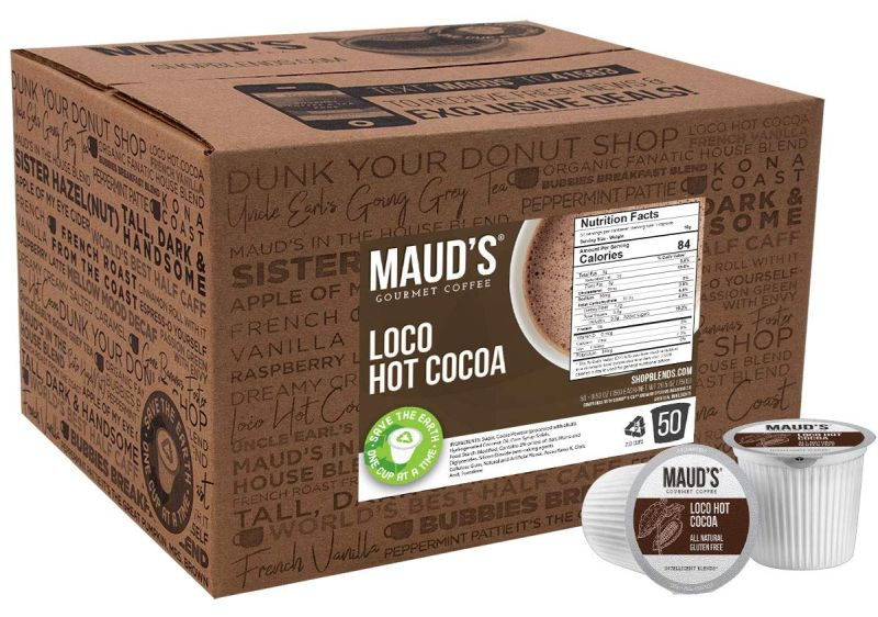 Maud's Hot Chocolate Single Serve Dairy Free Hot Cocoa Pods