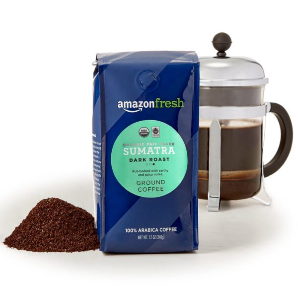 AmazonFresh Organic Fair Trade Sumatra Ground Coffee