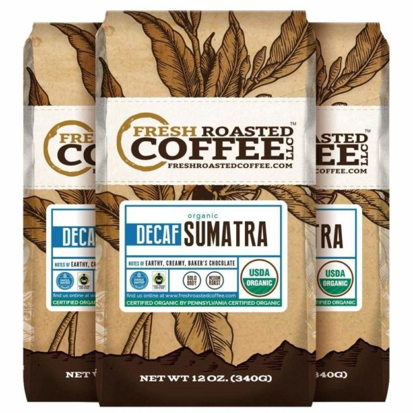 Organic Sumatra Swiss Water Decaf Coffee by Fresh Roasted Coffee LLC