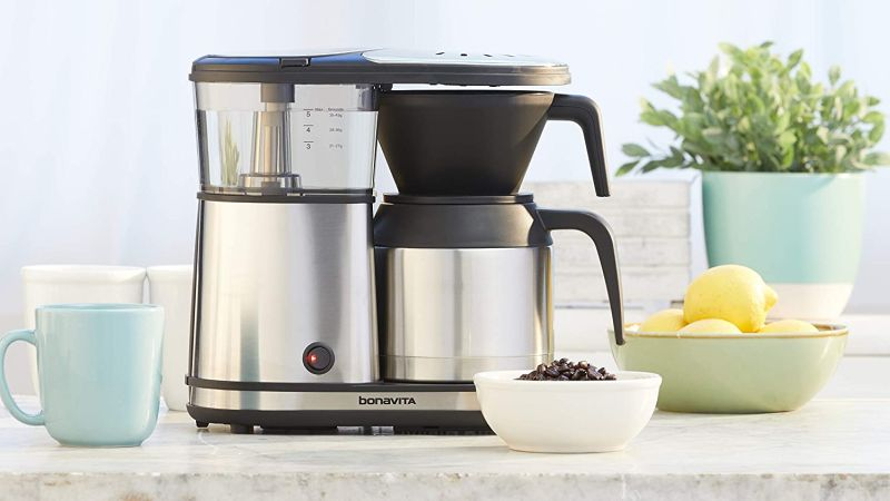 Bonavita 5-Cup One-Touch Coffee Maker Featuring Thermal Carafe BV1500TS