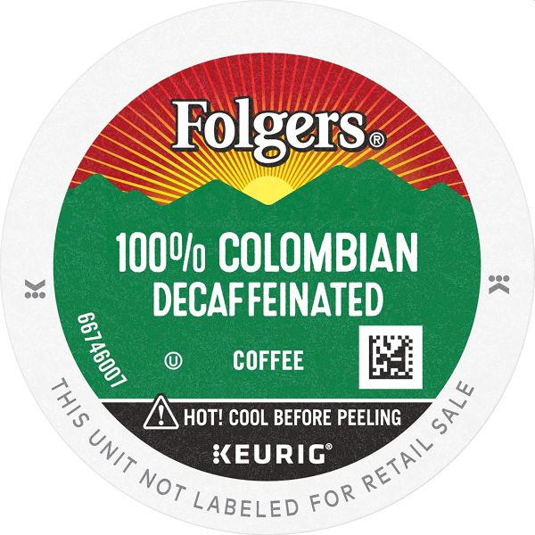 Folgers Decaf K Cups Colombian Coffee