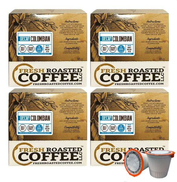 Fresh Roasted Coffee LLC, Swiss Water Decaf Colombian Coffee Pods