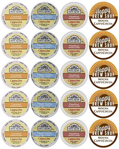 20-count Grove Square Cappuccino Variety Sampler Pack
