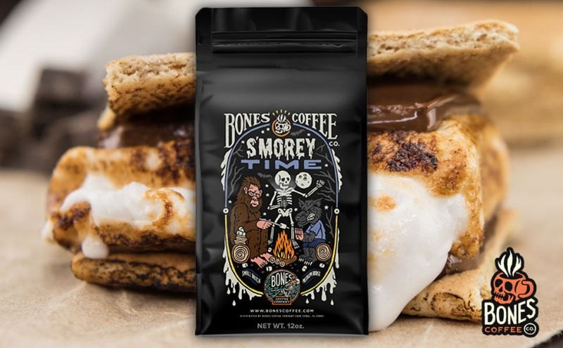 Bones Coffee Company Flavored Coffee Beans, S'morey Time