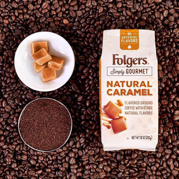 Folgers Simply Gourmet Natural Caramel Flavored Ground Coffee